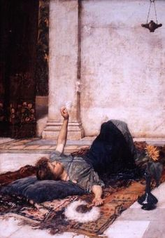 Dolce Far Niente or The White Feather Fan  John William Waterhouse  1879  Oil on canvas