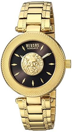 Versus by Versace Women's  Casual Watch 3d lion head logo   Water safe 30 m  Quartz Movement  Case Diameter: 36mm  Water impervious to 30m (100ft): all in all, withstands sprinkles or brief inundation in water, yet not reasonable for swimming or washing You can look here and buy.