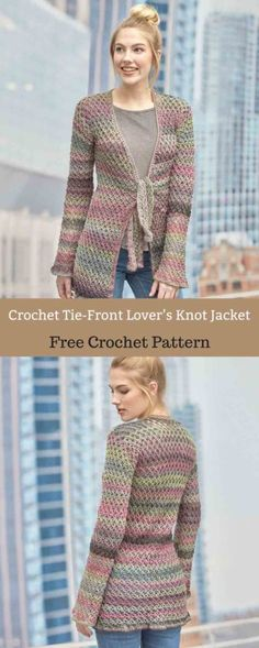 This flattering longer length jacket is the transitional piece you'll love #freecrochetpattern #freecrochet #crochet3 #easycrochet #patterncrochet #crochettricks #crochetitems #crocheton #thingstocrochet
