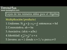 Leyes de los números útiles para el álgebra
