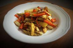 Korn, Ratatouille, Meat, Chicken, Ethnic Recipes, Turmeric, Cubs