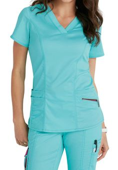 Beyond Scrubs Ellie V-neck Scrub Tops Main Image