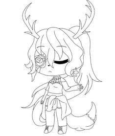 Gacha Life Coloring Pages Lineart Zoo Coloring Pages, Coloring Pages For Girls, Coloring Books, Anime Girl Drawings, Kawaii Drawings, Cute Drawings, Hello Kitty Coloring, Anime Wolf Girl, Cute Pokemon Wallpaper