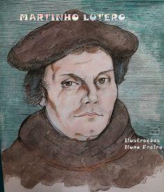 Ilustrações Nuno Freire: Martinho Lutero