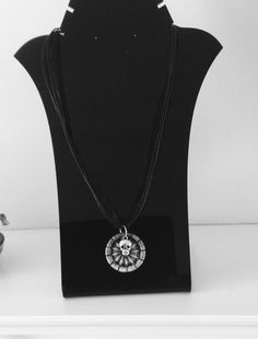 Necklace Pendant with Dorset Button and Skull Charm £8.00