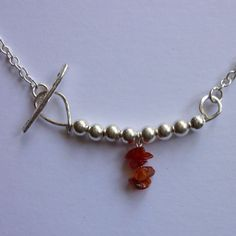 Carnelian and silver bead necklace £30.00