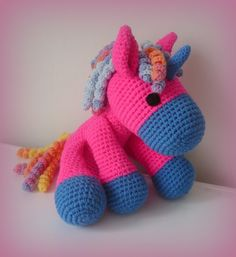 Animales de peluche - Crochet Unicornio XXL - hecho a mano por Crochetland en DaWanda