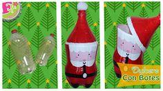 Christmas Art, Christmas Ornaments, Diy Plastic Bottle, December, Santa, Ideas Recicladas, Blog, Holiday Decor, How To Make