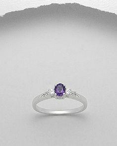 Inel argint 925 cu ametist Sapphire, Jewels, Rings, Bijoux, Gemstones, Jewerly, Gems, Ring, Fine Jewelry