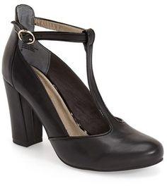 cc7609431f53 Seychelles  Trumpet  T-Strap Pump (Women) Black High Heel Pumps