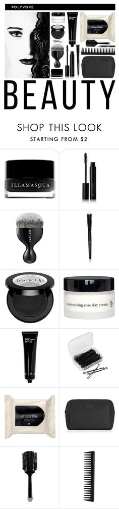 """Polyvore Beauty"" by sharmarie ❤ liked on Polyvore featuring beauty, Illamasqua, Sephora Collection, e.l.f., BBrowBar, Bobbi Brown Cosmetics, Forever 21, H&M, SkinCare and GHD"