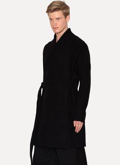 Heavy Coal Wool Felted Coat Chopino