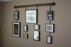 Wilsons and Pugs: Studio Wall Easel knock off of Pottery barn wall easel Hanging Picture Frames, Hanging Pictures, Picture Groupings, Photo Hanging, Picture Collages, Diy Picture Rail, Picture Photo, Picture Ideas, Cheap Home Decor