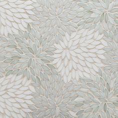 Decorative Materials Estrella Be Bop White Glass Mosaic - Decorative Materials