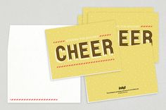 Universal Cheer Holiday Greeting Card Template - Pass on your holiday sentiments with this versatile card design in a bright golden hue.
