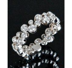 Tiffany & Co. diamond and platinum 'Bubble' ring on bluefly anniversary anyone?