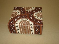 Chocolate Small Square Box - made up  (121)