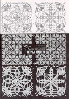 crochet lace granny square вязаные крючком квадратные мотивы