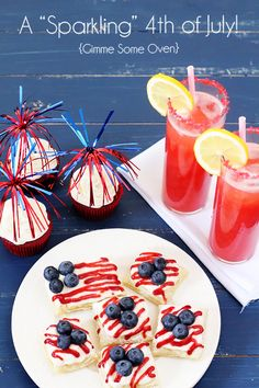 "A ""Sparkling"" Fourth of July ~~ fun recipes to celebrate all things red, white and blue!"
