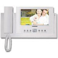 """Цветной видеодомофон COMMAX CDV-71BE      CDV-71BE      Видеодомофон Commax CDV-71BE — проверенная, хорошо зарекомендовавшая себя модель. Цветной 7"""" (17,8 см) TFT LCD монитор обеспечивает качественное изображение. Громкость, цветность, контрастность, яркость регулируются.Общение с посетителем происходит при помощи трубки. Возможно подключение 4 панелей/ камер. Отличительная особенность данной модели — наличие блока памяти, который позволяет записать до 128 изображений посетителей (с…"""