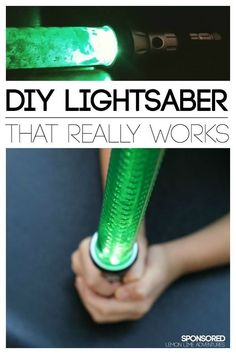 AWE-some!! DIY Lightsaber that Really Works. Crazy cool craft for kids!