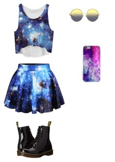 Galaxy by julierashy on Polyvore featuring polyvore, fashion, style, Dr. Martens, Matthew Williamson and clothing