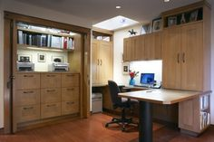 Built in file cabinets in office closet