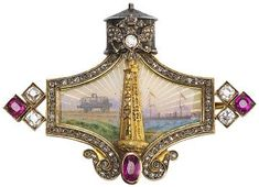 Fabergè Brooch signed Mikhail Perkin ( 1896-1903) St Petersburg. Ordered by Emanuel Nobel for his daughter.