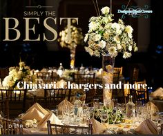 gold chiavari chairs wedding flowers charger plates