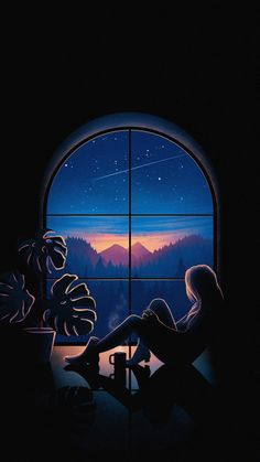 Minimal-Space-Meteorite-Shooting-Star-iPhone-Wallpaper - IPhone Wallpapers