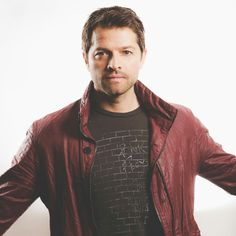 That red jacket looks gorgeous on him. Wear it some more Misha.