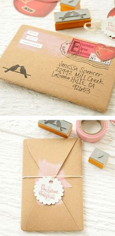 Postal Love Notebook DIY