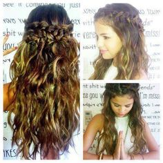 Selena Gomez's hair... so pretty.