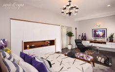 Bedroom with inbuilt master wardrobe (de Savio and Rupa Interior Concepts )