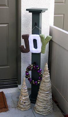 DIY: JOY Holiday Sign