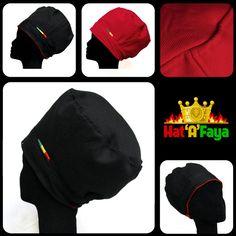 REVERSIBLE Rasta Tam Hat Black Vs Red Rasta Crown Hat by HATaFAYA, $45.00 White Beige, Taupe, Black And White, Red Green Yellow, Purple, Round Hat, Elastic Headbands, Cotton Canvas, Crown
