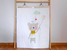 Baby quilt/ stroller quilt/ blanket playmat the bear & by nenimav