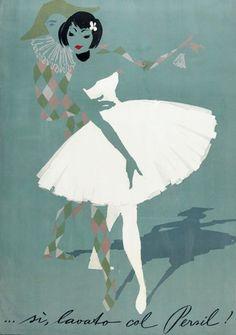 1950s Persil laundry soap illustration by Donald Brun.