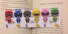 Magnetic Bookmarks Morphing Rangers by HappyHelloCo on Etsy