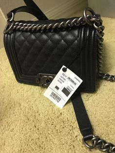 CHANEL Boy Bag Small Black New with Tags 8e22d7a7655e1