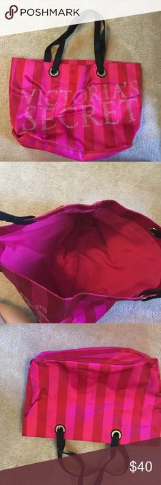 Large Victoria's Secret bag Large Victoria's Secret pink and bag barely used in great condition! Victoria's Secret Bags Totes