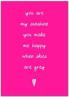 You are my sunshine |  Kaarten Kekootje | Fluor