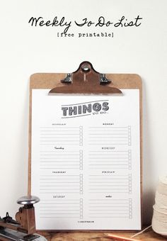 Trying to get organized... and set small daily goals! FREE Printable 'To Do' List. :)