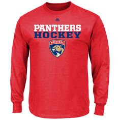 Florida Panthers Majestic Feel the Pressure Long Sleeve T-Shirt - Red - $19.99