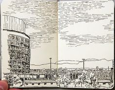 Traveler Sketch DRAWING AT DUKE: Moleskine Sketches (found online)