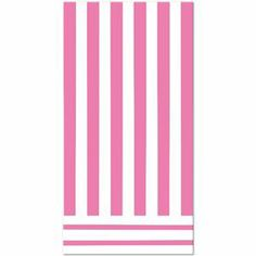 Hot Pink Striped Table Cover - 325046 | Party-ify! #stripes #pinkstripes #tablecovers #partysupplies #tableware