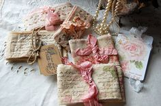 Stamped fabric ribbon. Gotta try this. she has lots of websites on her page, that are good.