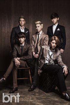 NU'EST - bnt International December 2013 (love Ren's new hair color, manly)