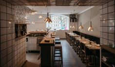Woodstockholm Matbare - Google Search Stockholm Restaurant, Restaurant Bar, Ladies Who Lunch, Cafe Bar, Perfect Place, Project 3, Wood, Interior, Table