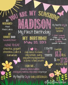 You+are+my+Sunshine+Birthday+Chalkboard+by+BaileyBunchInvites,+$24.99